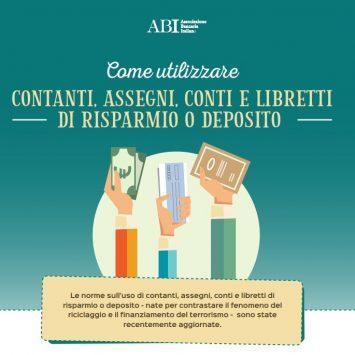 Guida ABI: Come utilizzare contante, assegni, conti e libretti di risparmio o deposito